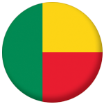 Benin Country Flag 25mm Flat Back